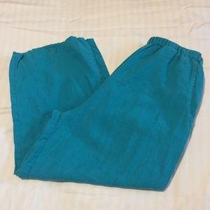 Flax Linen Wide Leg Pants